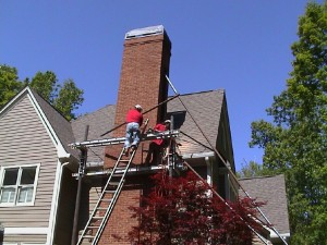 Atlanta GA Leaning Chimney Repair Contractors