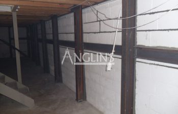 steel support beams in a basement of a bulding