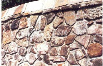 brick wall after a crack repair