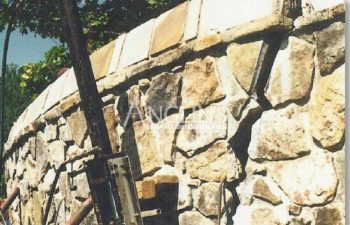 brick wall with cracks