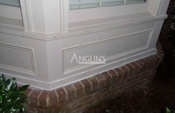 repaired outside bay window wall