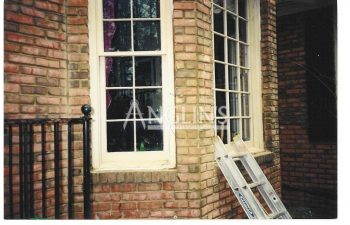 repaired sagging bay window