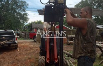 anglin's team installing a helical pier