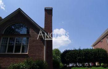 a straight chimney after anglin repaired it