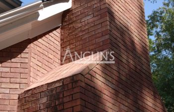 a chimney that had cracked walls after anglin repaired it