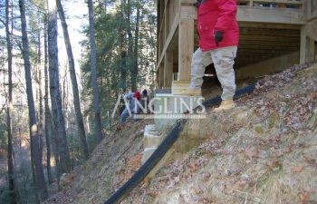 anglin's team excavating a deck support column