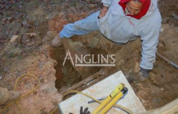 anglin's employee at deck support column excavation