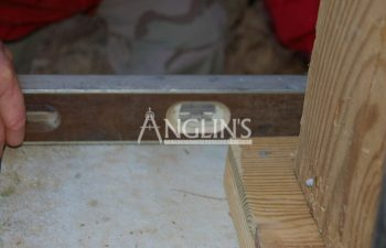 levelled deck footing after anglin's repair