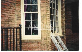photo of a bay window after a repair