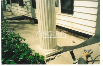 sinking concrete porch column foundation