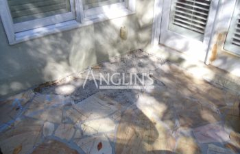 damaged stone patio