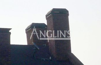 photo of two chimneys