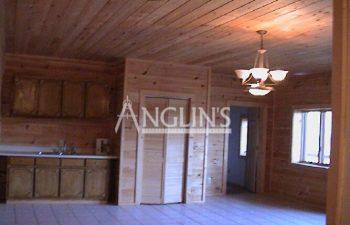 kitchen of a wooden kitchen