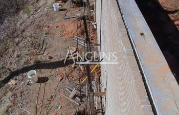 tie backs installed while repairing a brick wall