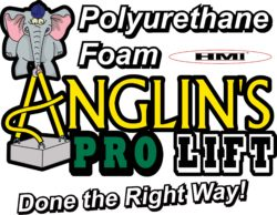 banner with text: Polyurethane Foam HMI Anglin's PRO LIFT Done the Right Way! HMI