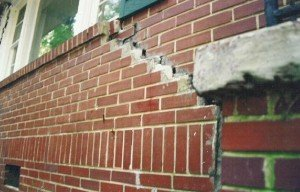 Brick Foundation Cracking