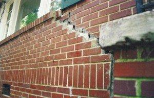 Brick Foundation Cracking
