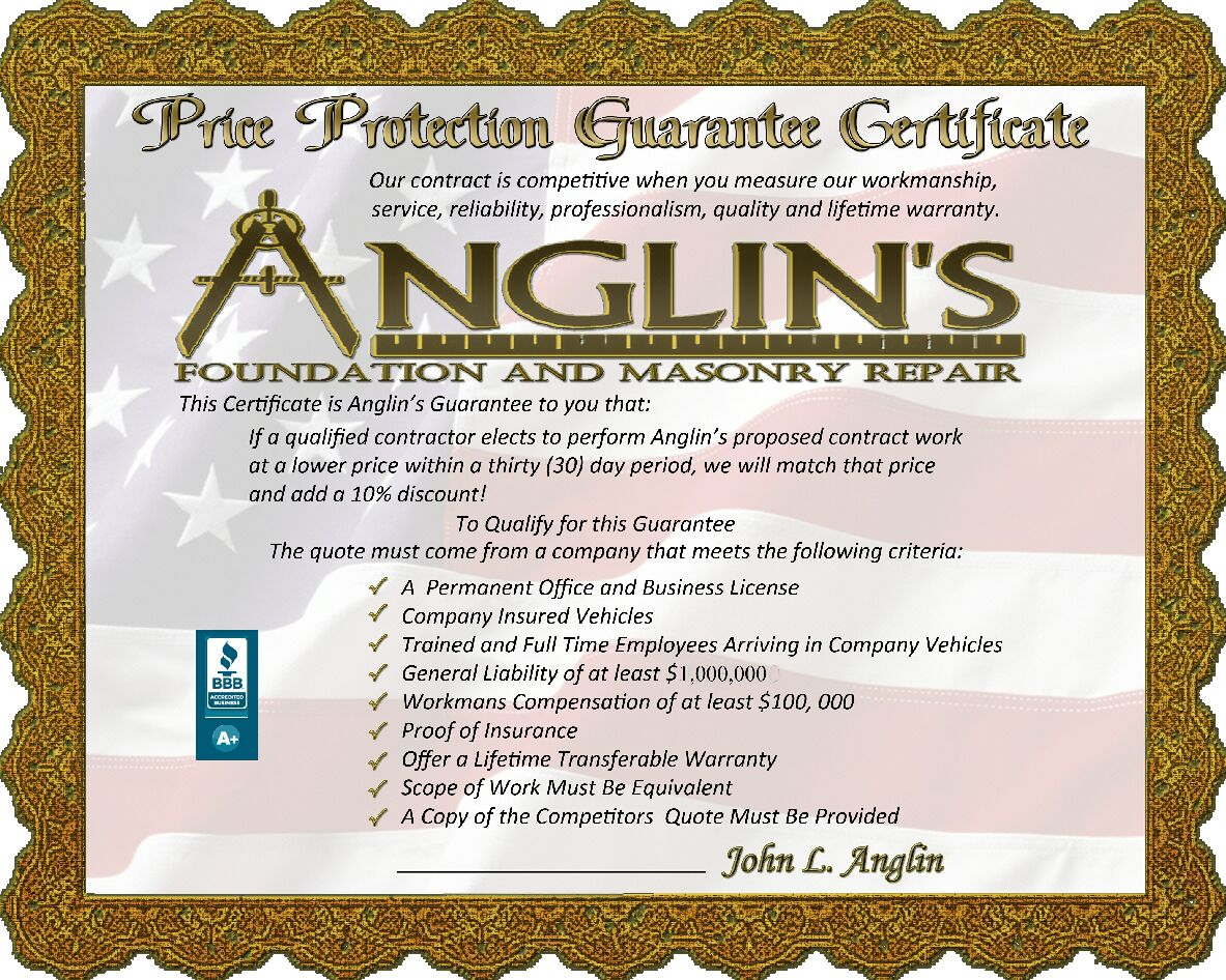 picture of price protection guarantee certificate